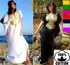 Kaftan Maxi Dress Moroccan Abaya Dubai Long Arabian Farasha Eid one size 8-24 UK