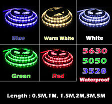 12V 5630 5050 3528 SMD IP65 Flexible LED Strip Light Rope White Kitchen Xmas