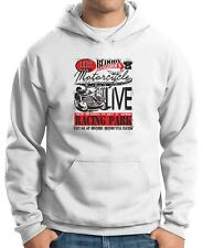 Felpa Hoodie TB0353 motorcycle racing skull and old school bike 22