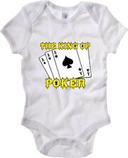 Baby Rib Body neonato T0255 Aces Texas Hold em The King of Poker Games