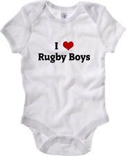 Body neonato TRUG0018 i love rugby boys fitted logo