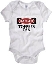 Body neonato WC0292 DANGER EVERTON, TOFFEES FAN, FOOTBALL FUNNY FAKE SAFETY SIGN