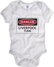 Body neonato WC0299 DANGER LIVERPOOL FAN, FOOTBALL FUNNY FAKE SAFETY SIGN