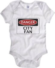 Body neonato WC0288 DANGER CITY FAN, FOOTBALL FUNNY FAKE SAFETY SIGN