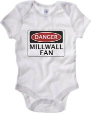 Body neonato WC0304 DANGER MILLWALL FAN, FOOTBALL FUNNY FAKE SAFETY SIGN