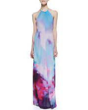 NEW TED BAKER Multicolor ALEXXIS Summer At Dusk Print Dress RRP £229 SZ 1 2 3 4