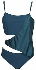 "Speedo Teal Sculpture Indulge Wrap Swimsuit Sizes 40"" 42"" Diamante Trim NEW TAGS"