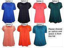 New Ladies M&S Tunic Tops T Shirt  Marks & Spencer Blue Black Coral Green Orange