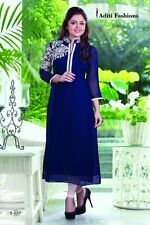 Designer Embroidery Kurti for Partywear with Goergette fabric S057