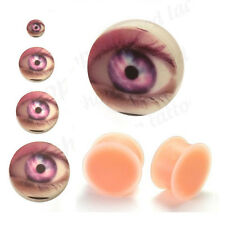Silicone Flesh Plug Eye Earlobe Skin Colour Hider Stretched Ear Size 5mm -30mm