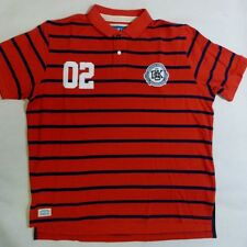 BRAND NEW MENS NICHOLAS DEAKINS FRATERNITY PIMA COTTON POLO SHIRT RED NAVY **