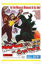 King Kong vs. Godzilla Movie POSTER (1962) Action/Adventure