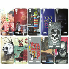 Hard Back Case For Lenovo A6000 / A6000 Plus Mobiles, Stylish Patterns Cover