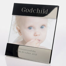 Godchild Engraved Photo Frame - Godson, Goddaughter Christening Gifts Presents