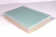 100 LINED 5 x 3 OR 6 x 4 ASSORTED REVISION RECORD FLASH INDEX CARDS. 4 COLOURS