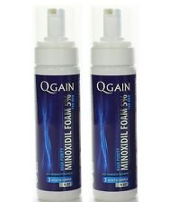 2 X Qgain MINOXIDIL FOAM FOR MEN 5% 6 Month Supply 2 x 180ml bottle