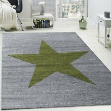 Elegant Living Room Carpet Stylish Lounge Rug Grey Green Short Pile Runner Mat