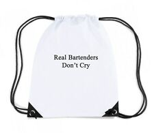 Zaino Zainetto Budget Gymsac  BEER0272 Real Bartenders Don t Cry