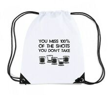 Zaino Zainetto Budget Gymsac  BEER0308 You Miss 100x100 of the Shots You Don t T