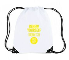 Zaino Zainetto Budget Gymsac  CIT0187 renew yourself today is a new day