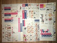Tea & Cake Personal Planner Sticker Kit Tri Fold for All Planner Types