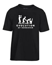 T-shirt Bambino BEER0217 Evolution-Of-Hangover-Magliette