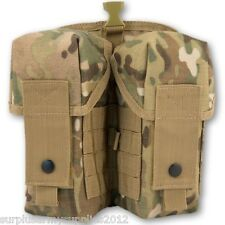 ARMY WEBBING MOLLE DOUBLE AMMO POUCH MTP MULTICAM BRITISH ARMY CADET HUNTING
