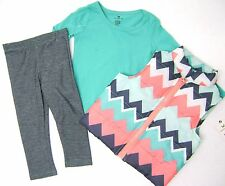 ONE STEP UP Girls 3Pc Puffer Vest, Long Sleeve Top & Legging Set Size  4 5/6 6X