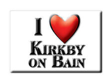 SOUVENIR UK - ENGLAND FRIDGE MAGNET I LOVE KIRKBY ON BAIN (LINCOLNSHIRE)