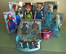 BNIB Official Disney Store 2015 Frozen Doll Toy Olaf Snow Queen Elsa Anna Sven