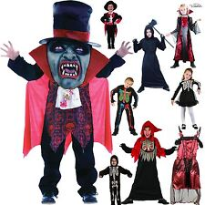 KIDS HALLOWEEN FANCY COSTUME HORROR DRESS SKELETON VAMPIRESS WITCH ZOMBIE OUTFIT