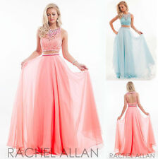 Sexy Two-piece Gowns Chiffon lace Prom Dress Formal Evening Party Cocktail Dress
