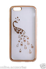 Rhinestone Side Gold Soft Glitter Diamond Back Cover Case for Apple iPhone 6 6s