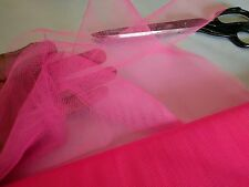 HOT PINK - 10 METRES - TULLE MESH FABRIC MATERIAL - WEDDINGS - £££ CHEAP