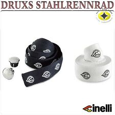 CINELLI COTTON RIBBON LENKERBAND HANDLEBAR TAPE WEIß WHITE SCHWARZ BLACK DRUXS
