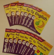 Collins Easy learning Numeracy/Literacy Workbook Packs kids Age 3-5, 5-7, 7-9New