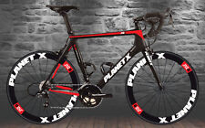 Planet X n2A style wheel decals to match carbon frameset stickers