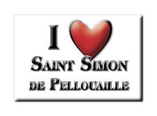 MAGNETS FRANCE - PROVENCE ALPES CÔTE D'AZUR I LOVE SAINT SIMON DE PELLOUAILLE (C