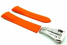 ORANGE 22mm Rubber/Silicone STRAP/BAND fit OMEGA WATCH SeaMaster PLANET OCEAN