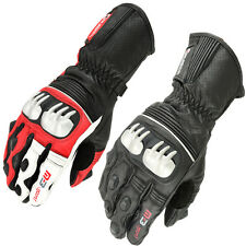 Motorbike/Motorcycle Protective Leather Gloves choice of colors. Biker Gloves
