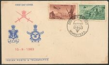 FDC - 00187. INDIA 1963. Defence Effort. 2 v FDC.