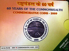 60 YEARS OF THE COMMONWEALTH YEAR 2009 PROOF COINS SET OF 2 COINS RS. 100 & RS.5