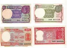 Mini Set New and Old One Rupee Note ,Narasimham , 2 Rupee Tiger issue Note UNC