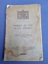 VERY SCARCE RARE ORIGINAL R101 AIRSHIP CRASH OFFICAL INQUIRY REPORT MARCH 1931