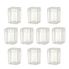 10pcs Clear Container Plastic Holder for 27MM Commemorative Coin Collection