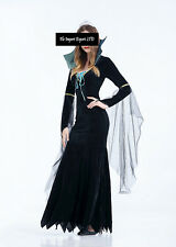 Vestito Strega Halloween Carnevale Donna Witch Dress up Woman Costume HWW002