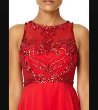 FOREVER UNIQUE NEW RED CHARITY  PROM DRESS UK SIZE  12 PARTY DRESS