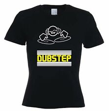 DUBSTEP DJ WOMEN'S T-SHIRT - Dub Step Drum & Bass Techno Rave - Sizes S to XL