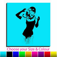 Audrey Hepburn Banksy Single Canvas Wall Art Picture Print 2