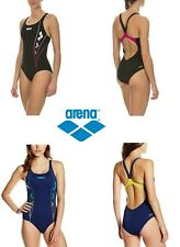 COSTUME INTERO DONNA PISCINA ARENA Nuoto Mare W WEB B ONE PIECE Nero Blu 1A851